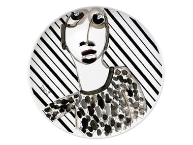 Ceramic dinner plate PORTRAIT I