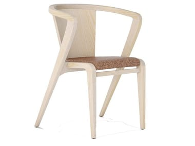 Cork chair with armrests PORTUGUESE ROOTS | Chair with armrests