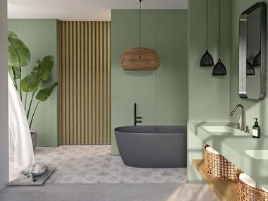 Silestone® wall tiles POSIDONIA GREEN