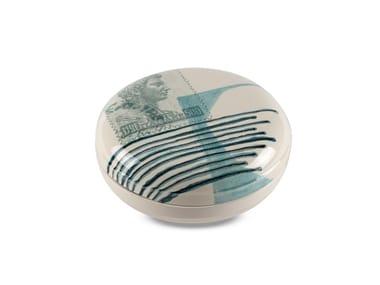 Contenitore in ceramica POSTCARD SCATOLA GRANDE ROTONDA