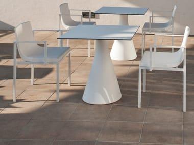 Square HPL table POT   Square table