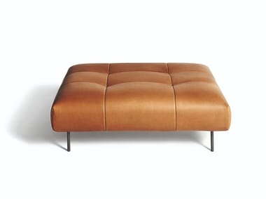 Leather footstool EREI | Footstool