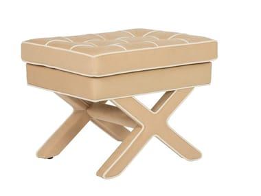 Low tufted velvet stool VOILIER | Stool