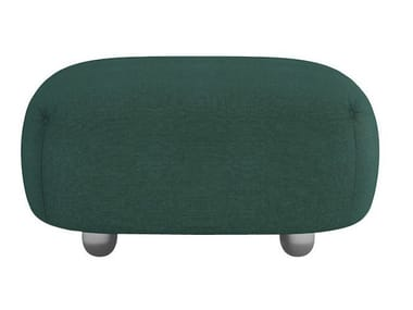 Upholstered fabric pouf OUVERTURE | Pouf