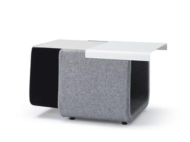 Pouf / tavolino in tessuto HIP | Pouf