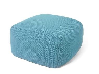 Square fabric pouf POUF | Square pouf