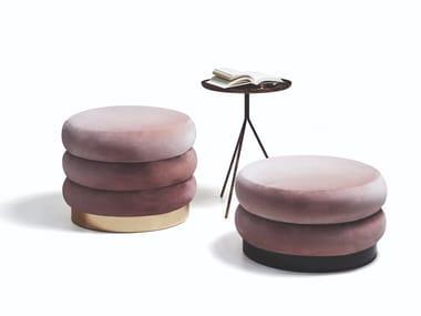 Round fabric pouf 9235 CHIGNON | Pouf