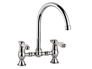 Countertop bridge tap with swivel spout PRAGA - PRAGA CRYSTAL - 7509P