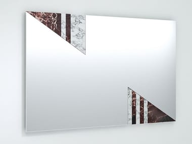 Rectangular wall-mounted mirror PRANA