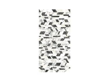 Pavimento/rivestimento in gres porcellanato effetto marmo PRESTIGE CHAOS COLD