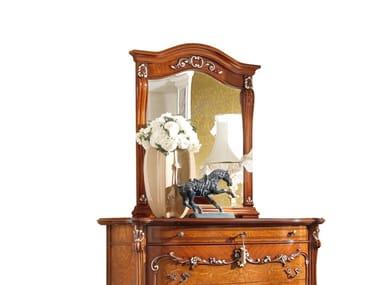 Countertop rectangular framed wooden mirror PRESTIGE PLUS | Countertop mirror