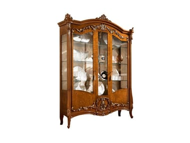 Lacquered wooden display cabinet PRESTIGE PLUS | Lacquered display cabinet