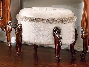 Pouf imbottito ovale in tessuto PRESTIGE PLUS | Pouf