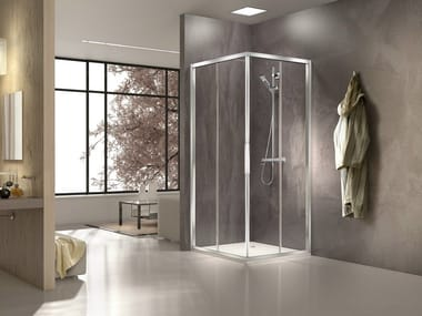 Glass and aluminium shower cabin STILA 2000 | Shower cabin