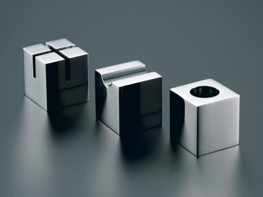 Cubic-shaped desk set in stainless steel PRIMARIO VESTIGE | Desk set