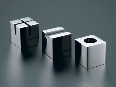 Set da scrivania a forma cubica in acciaio inox PRIMARIO VESTIGE | Set da scrivania
