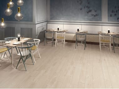 Ecological porcelain stoneware flooring with wood effect PRIME BEIGE