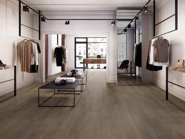 Pavimento/rivestimento in gres porcellanato effetto legno PRIMEWOOD BROWN