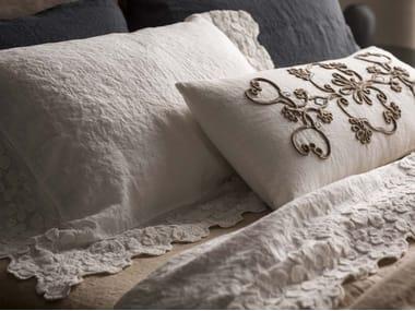 Federa in lino con motivi floreali PRIMULA | Federa