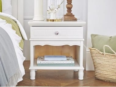 Rectangular wooden bedside table with drawers PRINCESS 803 | Bedside table