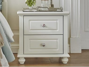 Rectangular wooden bedside table with drawers PRINCESS 879