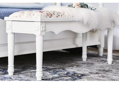 Wooden and fabric bench PRINCESS | Bench