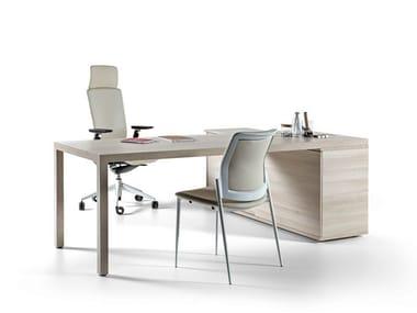L-shaped sectional workstation desk PRISMA | L-shaped office desk