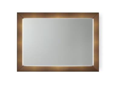 Rectangular wall-mounted mirror PRISMA | Mirror