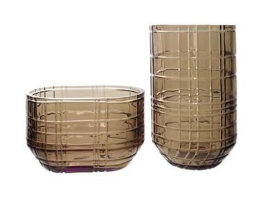 Glass vase PRISMES