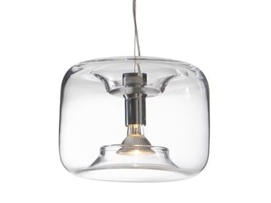 Lampada a sospensione in vetro BONBONNE