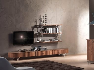 Low walnut TV cabinet CARPANELLI CONTEMPORARY 2013 | TV cabinet