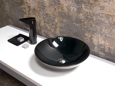 Lavabo da appoggio rotondo in ceramica LAVABI | Lavabo da appoggio