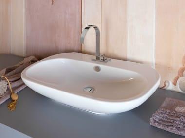 Lavabo da appoggio rettangolare singolo LAVABI | Lavabo singolo