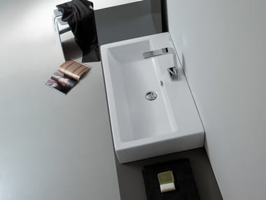 Lavabo da appoggio rettangolare singolo LAVABI | Lavabo