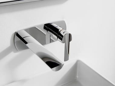 Miscelatore per lavabo a muro in acciaio TANGO | Miscelatore per lavabo a muro