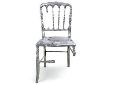 Open back aluminium chair EMPORIUM | Chair