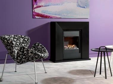 Wall-mounted electric fireplace DIABLO