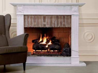 Gas open fireplace with remote control REAL FIRE