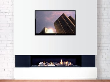 Gas open wall-mounted fireplace DANCING FIRE