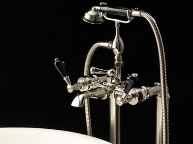 Floor standing bathtub tap with hand shower ANTIQUE PRECIOUS LEVER | Floor standing bathtub tap