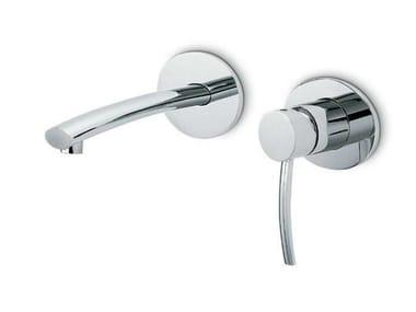 Miscelatore per lavabo a 2 fori a muro monocomando EL-X | Miscelatore per lavabo
