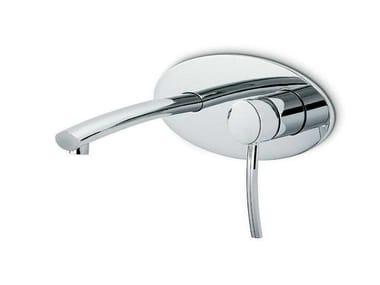 Miscelatore per lavabo a muro monocomando con piastra EL-X | Miscelatore per lavabo