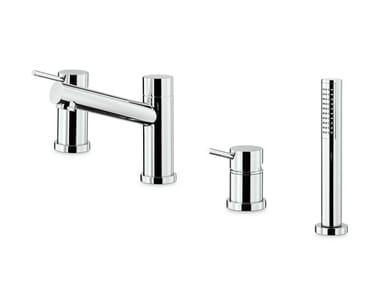 Miscelatore per vasca a 4 fori con doccetta X-TREND | Set vasca a 4 fori