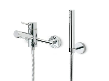 3 hole wall-mounted bathtub mixer with hand shower X-TREND | 3 hole bathtub mixer