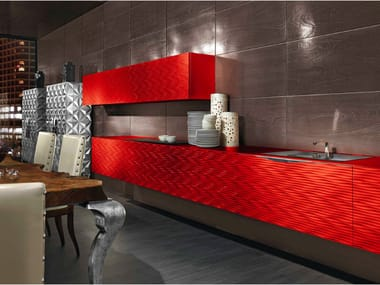 Wall-mounted custom kitchen unit MAORI | Kitchen