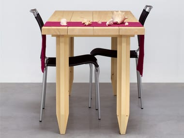 Rectangular solid wood table LAPIX