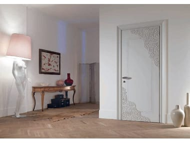 Hinged lacquered door REBECCA | Wooden door