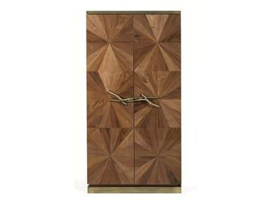 Wood veneer wardrobe WALNUT | Wardrobe