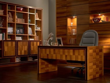 Rectangular solid wood office desk ELETTRA DAY | Office desk