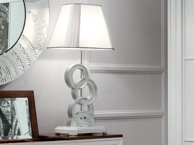 Silver leaf bedside lamp ÉTOILE NIGHT | Silver leaf bedside lamp